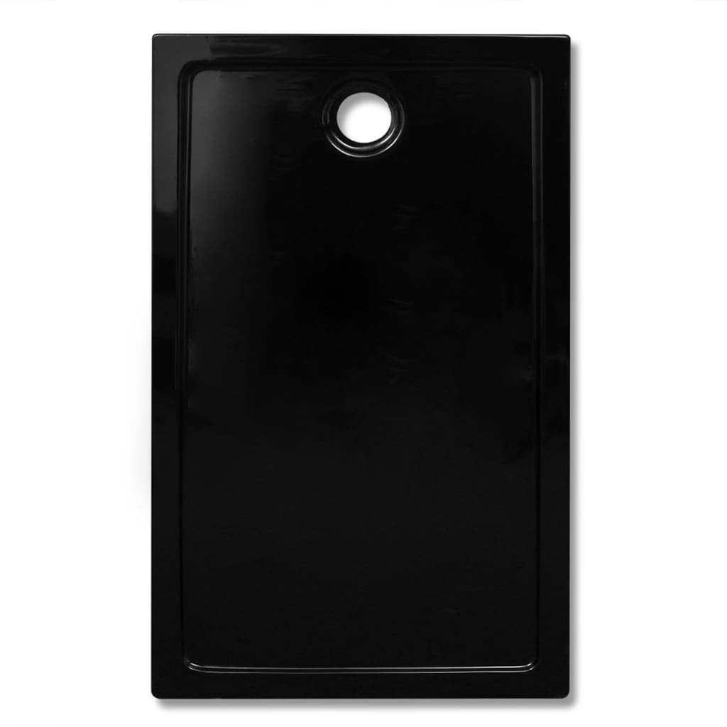Plato de ducha rectangular de abs color negro 70 x 120 - Plato ducha rectangular ...