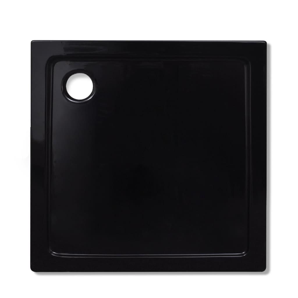 Piatto doccia quadrato in abs nero 80 x 80 cm - Piatto doccia nero ...