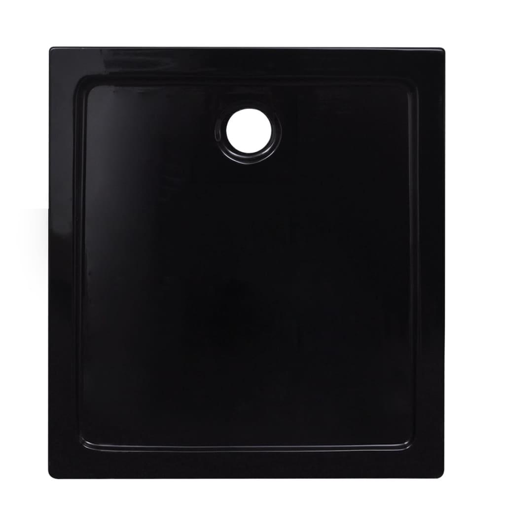 vidaXL-Plato-de-Ducha-Bandeja-Rectangulo-Antideslizante-Bano-ABS-Negro-80x90cm