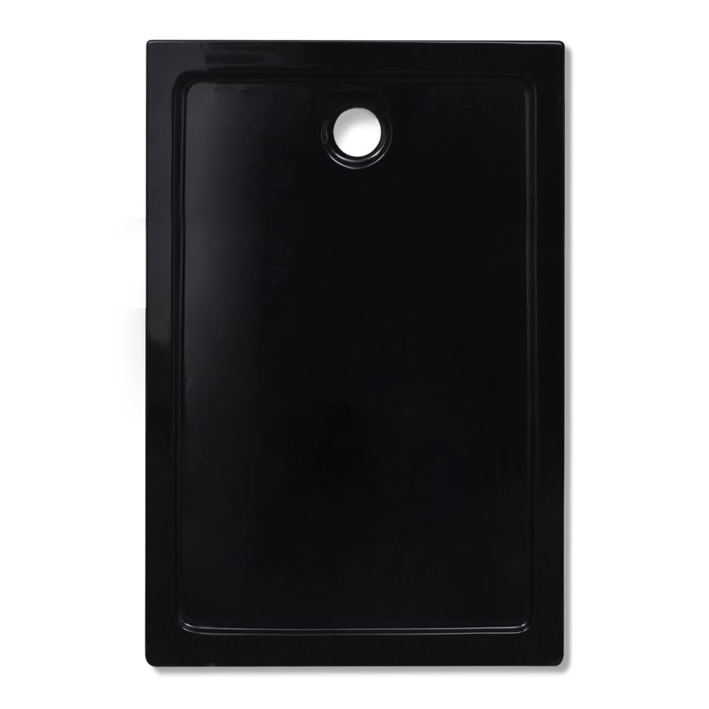 Plato de ducha rectangular de abs color negro 80 x 120 - Plato ducha rectangular ...