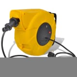 Automatic Retractable Power Cable Reel 9 + 1 m with Steel Handle