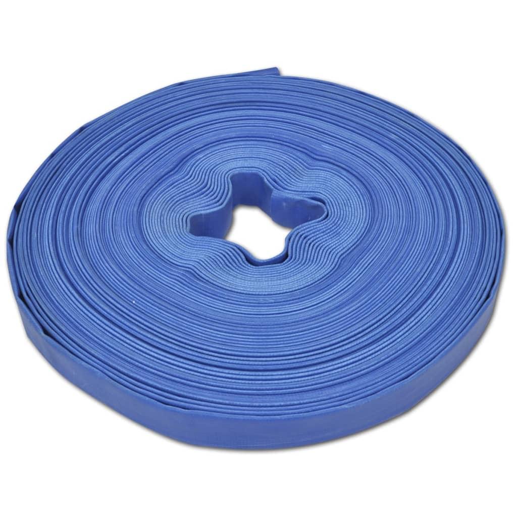 vidaXL 50 m 1-tommers PVC flat brannslange/vannforsyningsslange