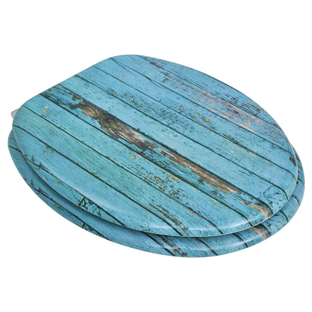 Wood Toilet Lid : Toilet seat with mdf lid old wood design vidaxl