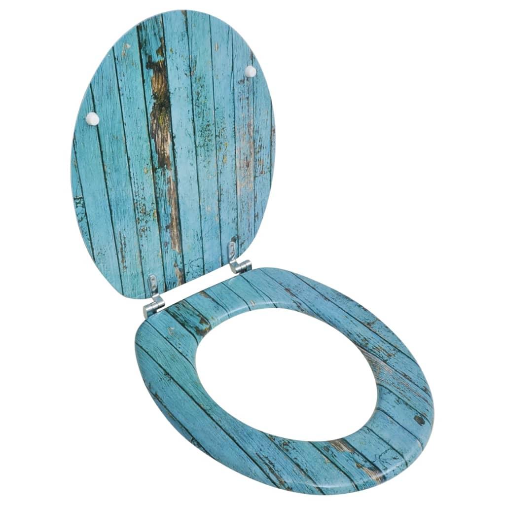 vidaXL WC-ülőke MDF fedéllel antik fa dizájn