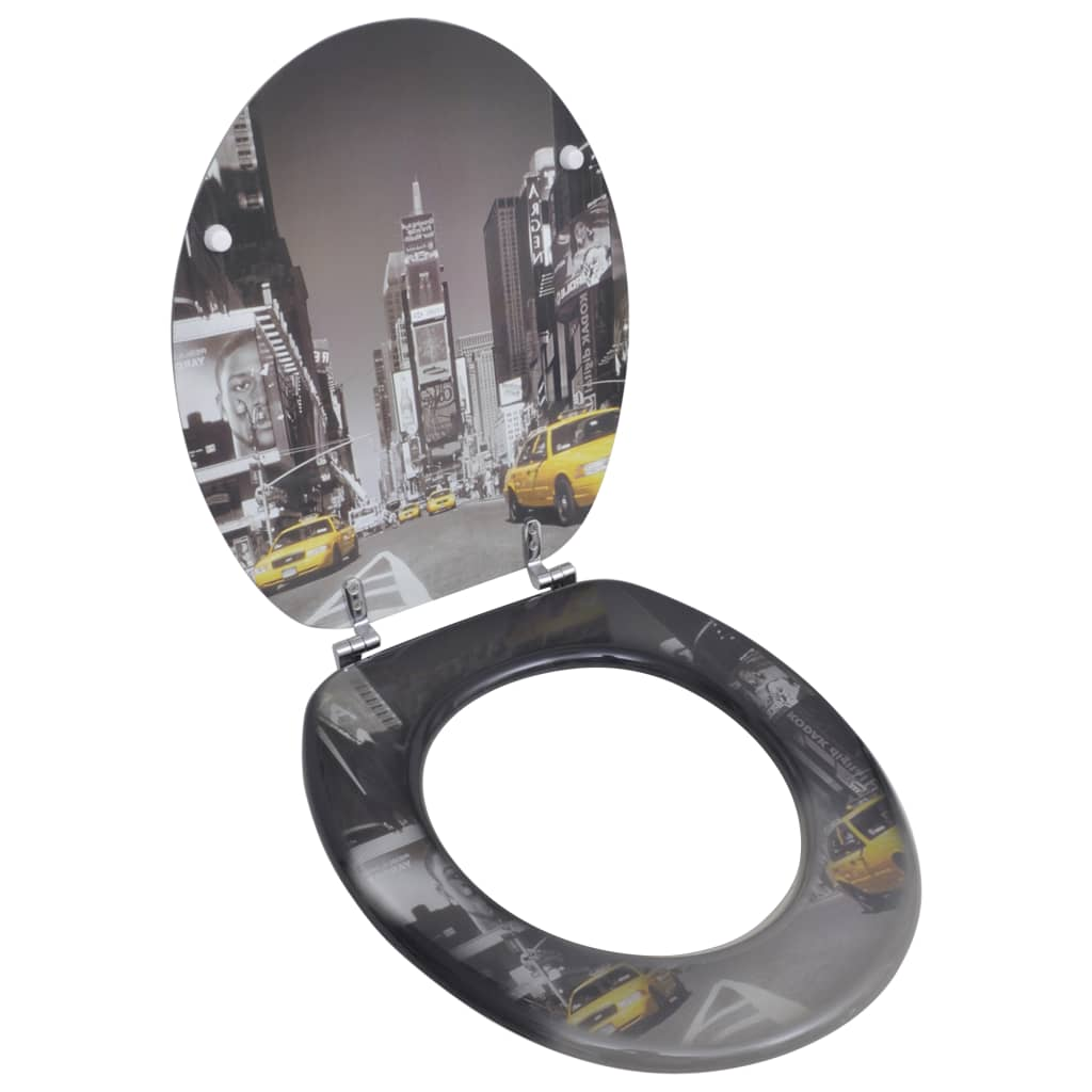 Toilet seat with mdf lid new york design - Toilet seats design ...