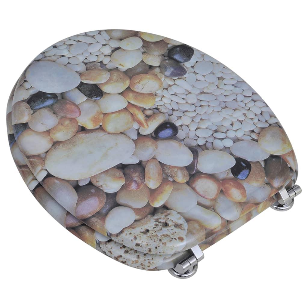 Toiletbril van mdf met kiezelstenen dessin online kopen - Tuinuitleg met kiezelstenen ...