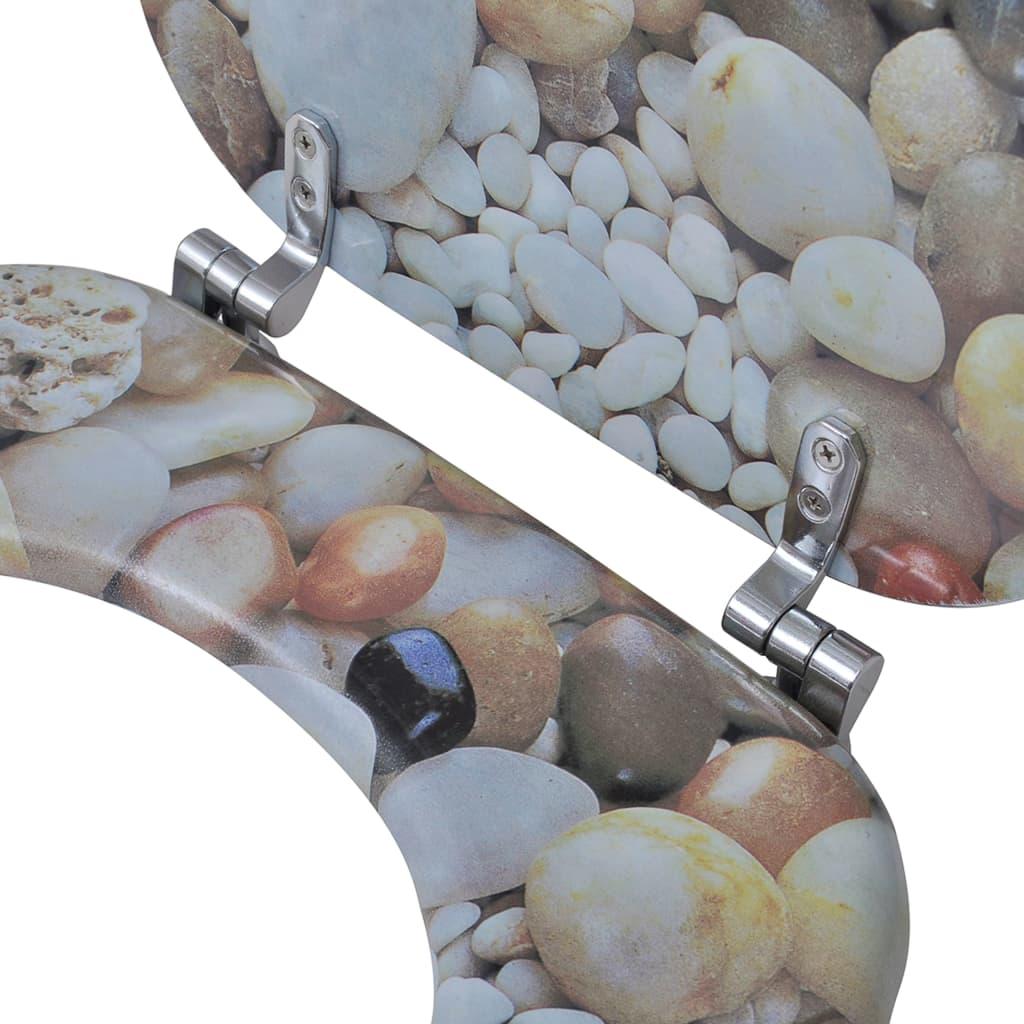 Tapa de wc de madera mdf con estampado de piedras tienda for Cambiar tapa wc