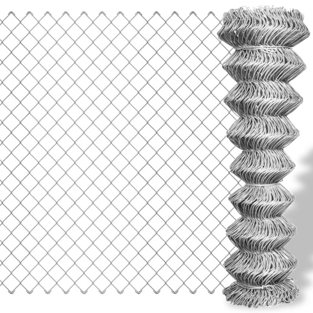 Kedjelänk staket Galvaniserat 15 x 0,8 m