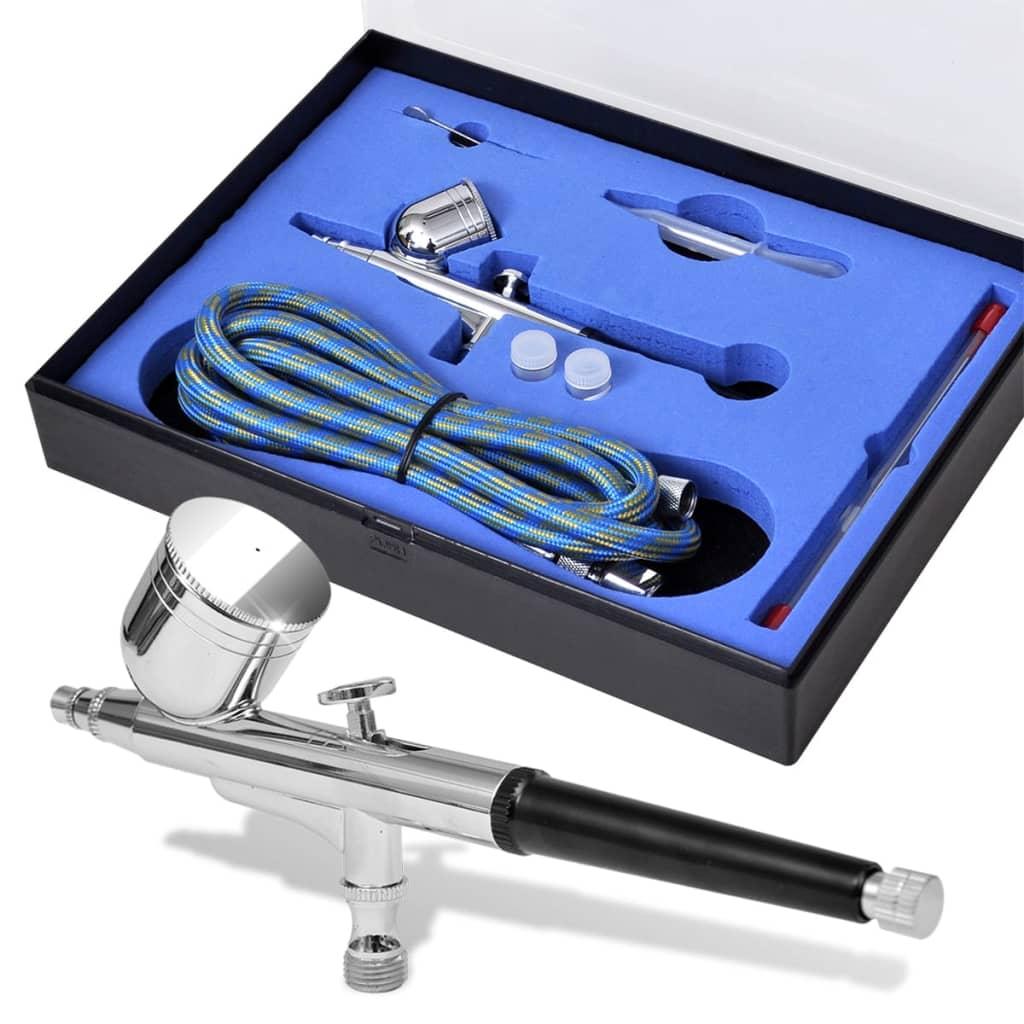 vidaXL Airbrush készlet 0,2 / 0,3 0,5 mm-es fúvókákkal