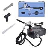 Airbrush Kompressor Set mit Luftstrom-Regulator 1,5 m Luftschlauch