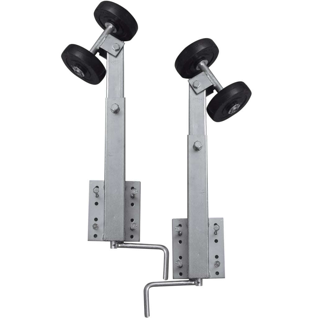 vidaXL Boat Trailer Double Roller Bow Support Set of 2 2'...