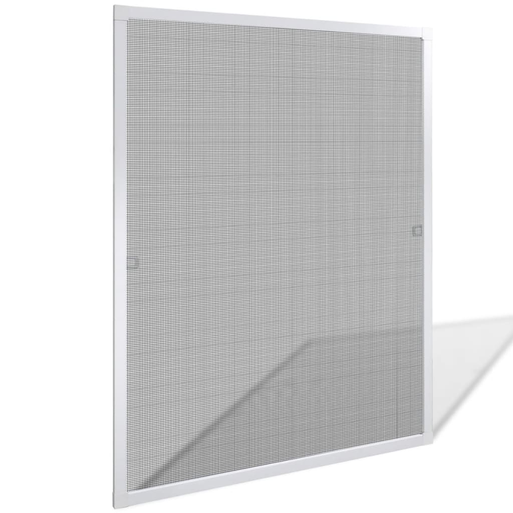 Vitt insektsnät till fönster 80 x 100 cm