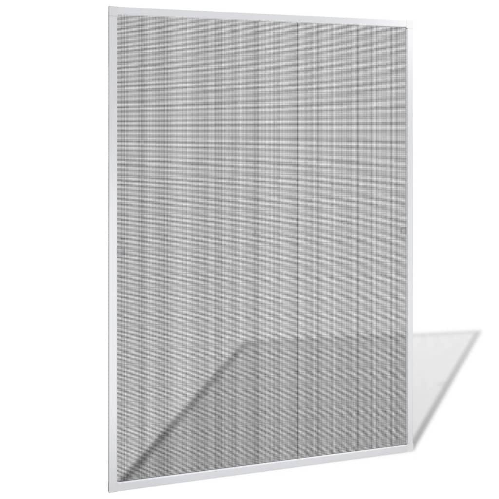 vidaXL Fehér szúnyogháló ablakra 120 x 140 cm