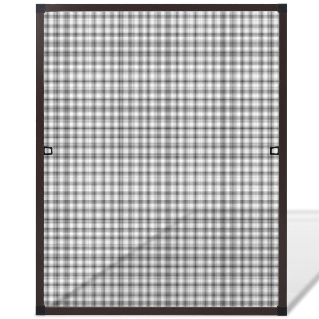 Brown insect screen for windows 80 x 100 cm for Fenetre 80x150
