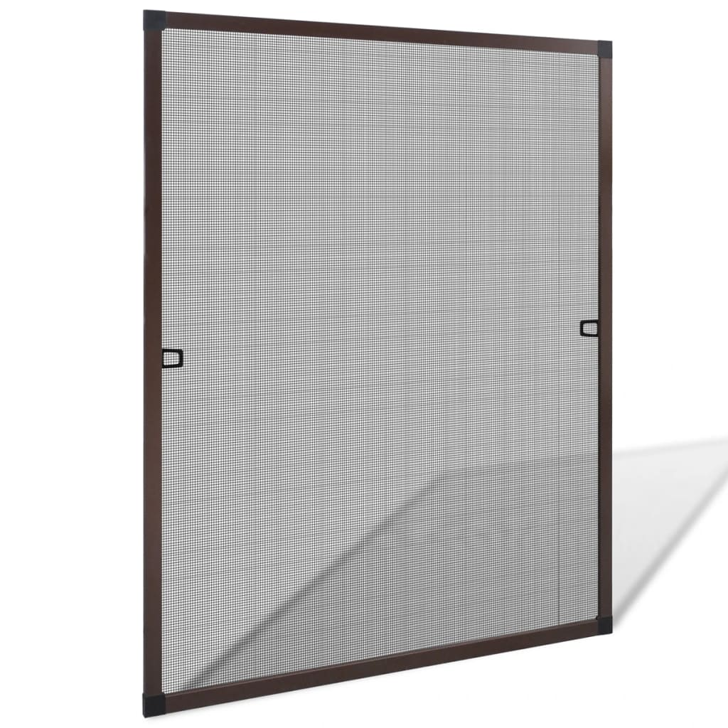 Brown insect screen for windows 80 x 100 cm for Window insect screen