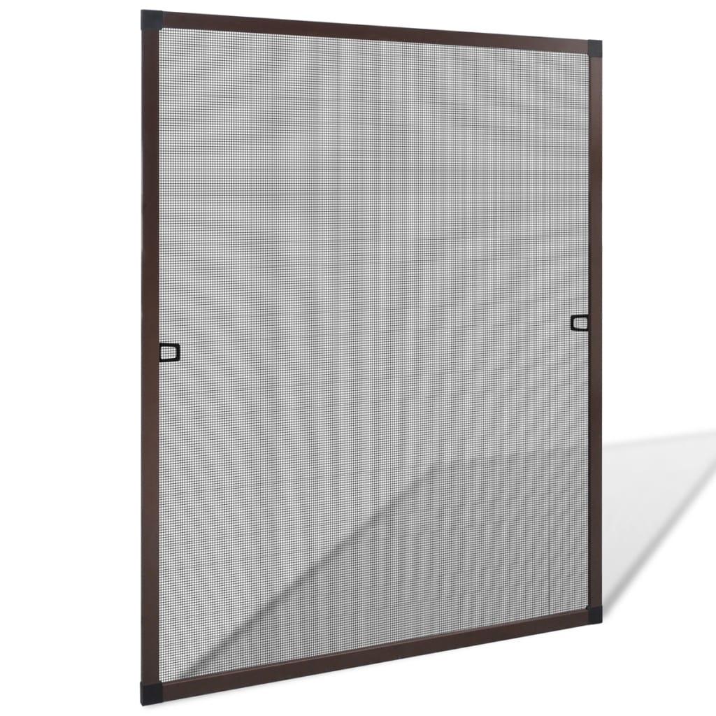 vidaXL Barna szúnyogháló ablakra 80 x 100 cm