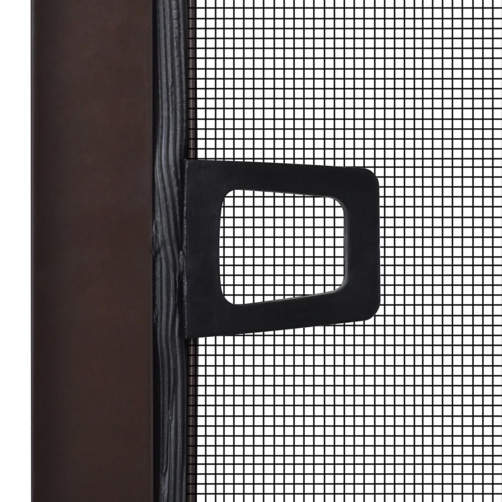Brown insect screen for windows 100 x 120 cm for Window insect screen