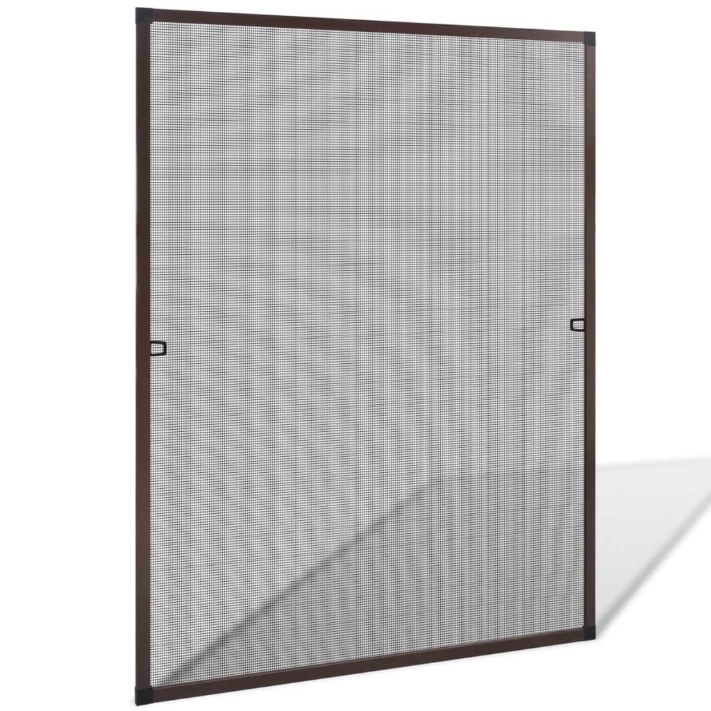 vidaXL Barna szúnyogháló ablakra 100 x 120 cm