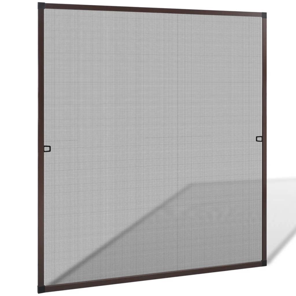 insektengitter f r fenster 120 x 140 cm braun g nstig kaufen. Black Bedroom Furniture Sets. Home Design Ideas