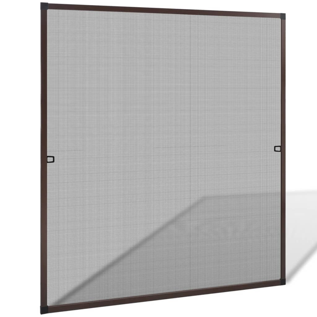 vidaXL Barna szúnyogháló ablakra 120 x 140 cm