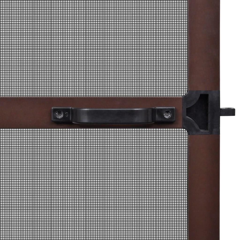 Acheter moustiquaire charni res marron pour porte 100 x 215 cm pas cher for Porte entree solde