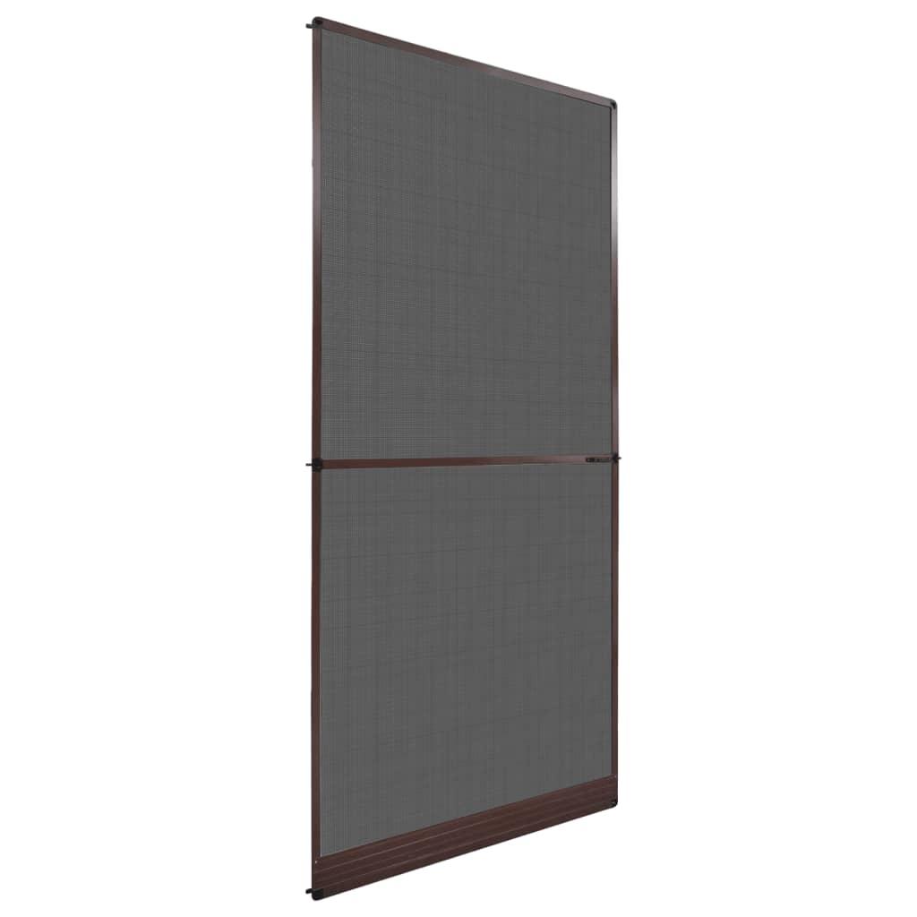insektenschutz mit scharnieren f r t ren 100 x 215 cm braun g nstig kaufen. Black Bedroom Furniture Sets. Home Design Ideas