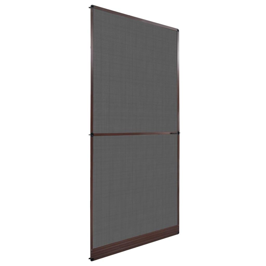 vidaXL Barna csukló ajtós szúnyogháló 100 x 215 cm