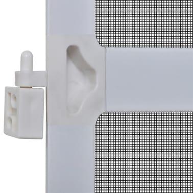 Insektnetting med hengsel for dører 120 x 240 cm hvit[5/8]