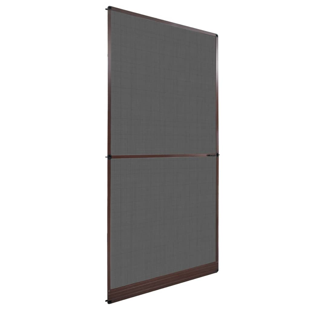 vidaXL Brown Hinged Insect Screen for Doors 120 x 240 cm