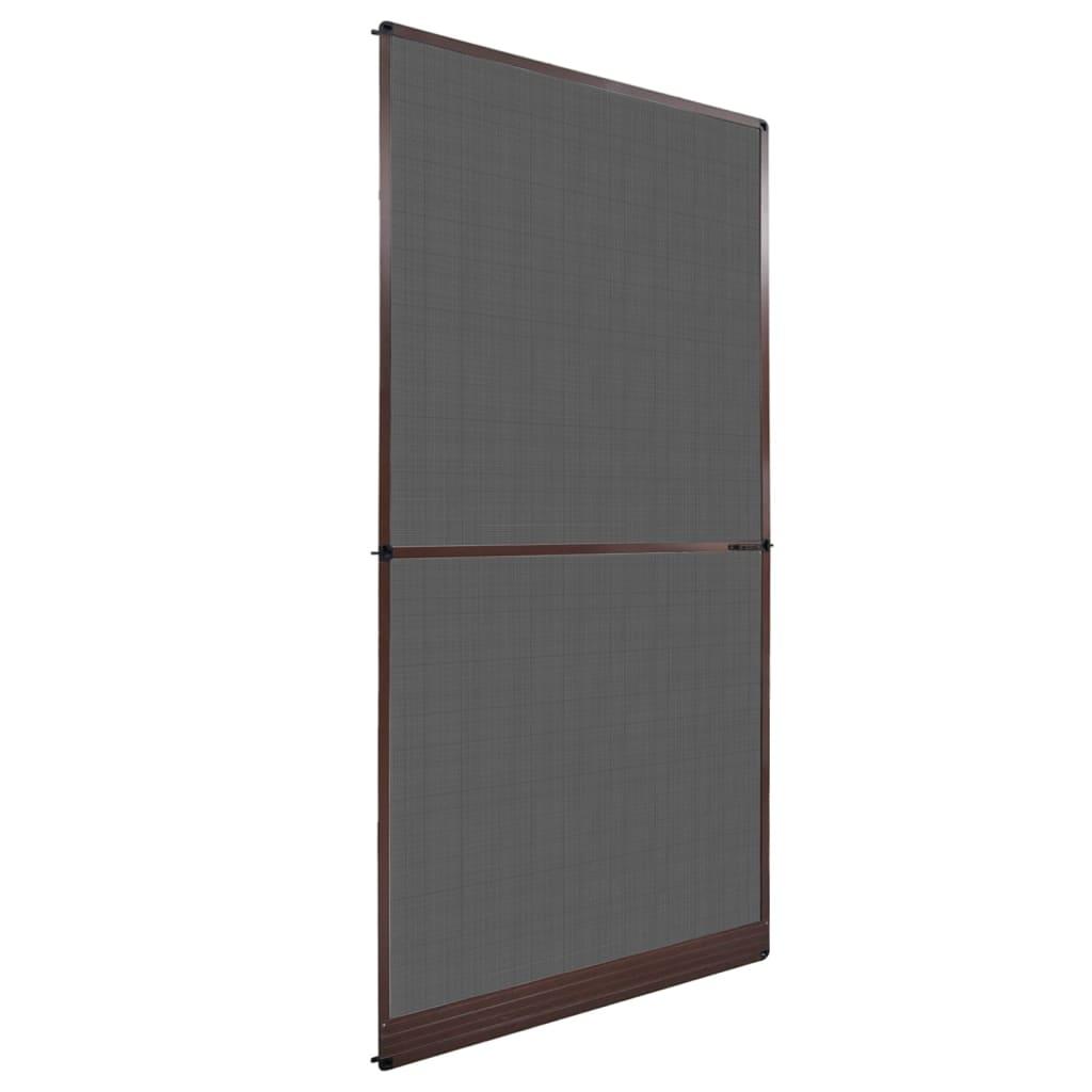 la boutique en ligne moustiquaire charni res marron pour porte 120 x 240 cm. Black Bedroom Furniture Sets. Home Design Ideas