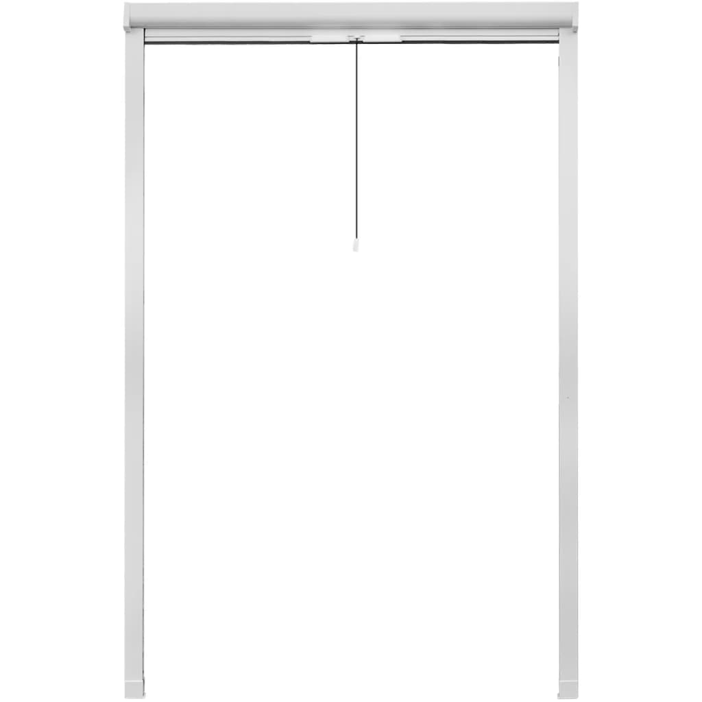 White roll down insect screen for windows 120 x 170 cm for Roll up insect screens for windows