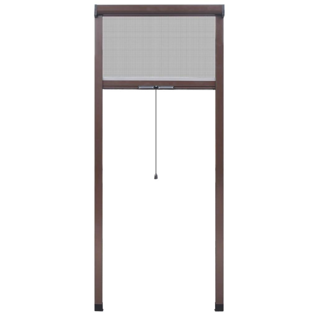 acheter moustiquaire enroulable marron pour fen tre 60 x 150 cm pas cher. Black Bedroom Furniture Sets. Home Design Ideas