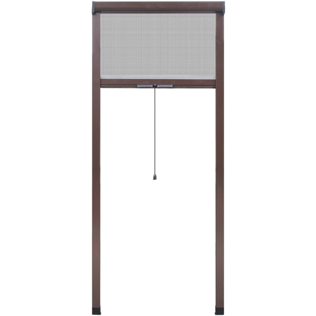 braunes aufrollbares insektengitter f r fenster 80 x 170 cm im vidaxl trendshop. Black Bedroom Furniture Sets. Home Design Ideas