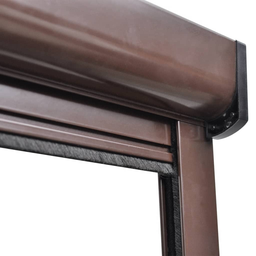 der braunes aufrollbares insektengitter f r fenster 120 x. Black Bedroom Furniture Sets. Home Design Ideas