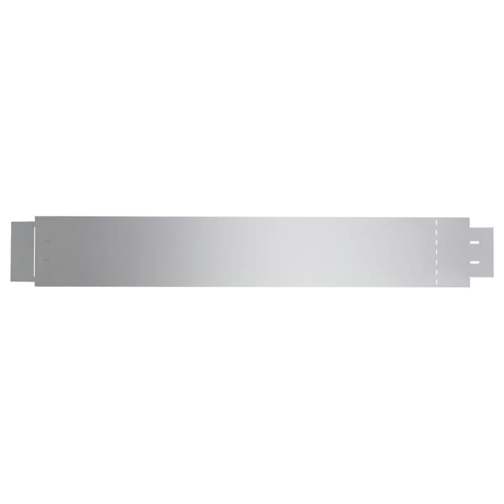 vidaxl clÔture flexible de pelouse en acier galvanisé lot de 5