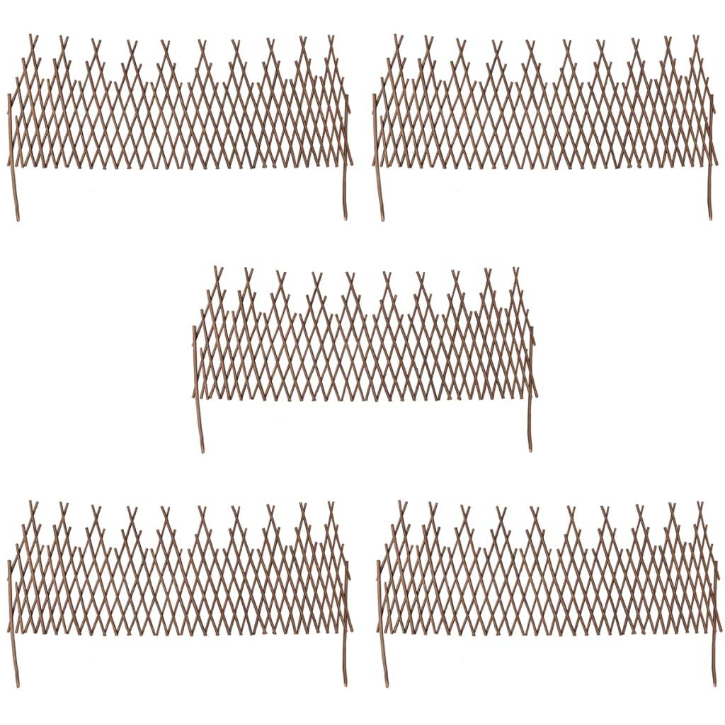 set of 5 expandable willow trellis fence 67 x 22. Black Bedroom Furniture Sets. Home Design Ideas