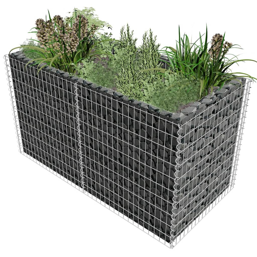gabion planter 180 x 90 x 100 cm. Black Bedroom Furniture Sets. Home Design Ideas
