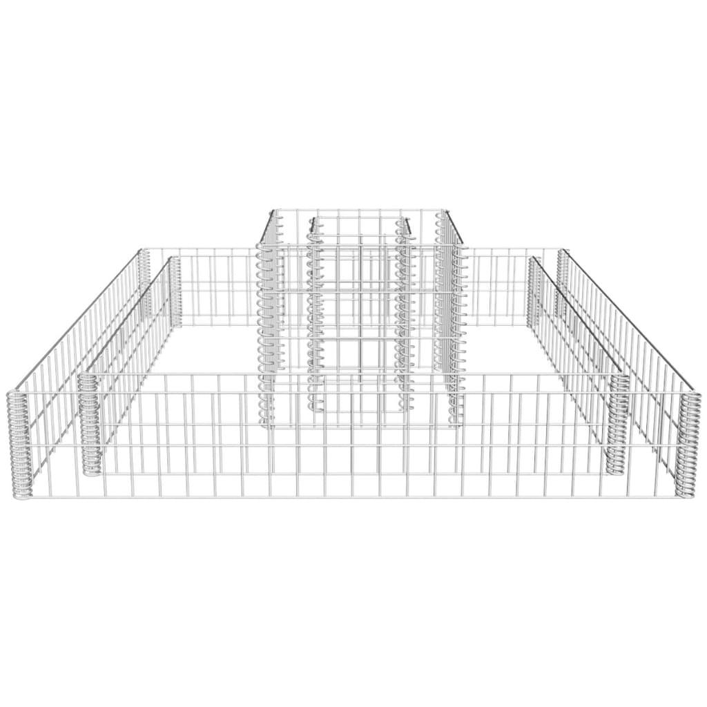 Vidaxl Gabion Planter 2 Tier Flower Basket Stone Wire Garden Outdoor Case Wiring Diagram