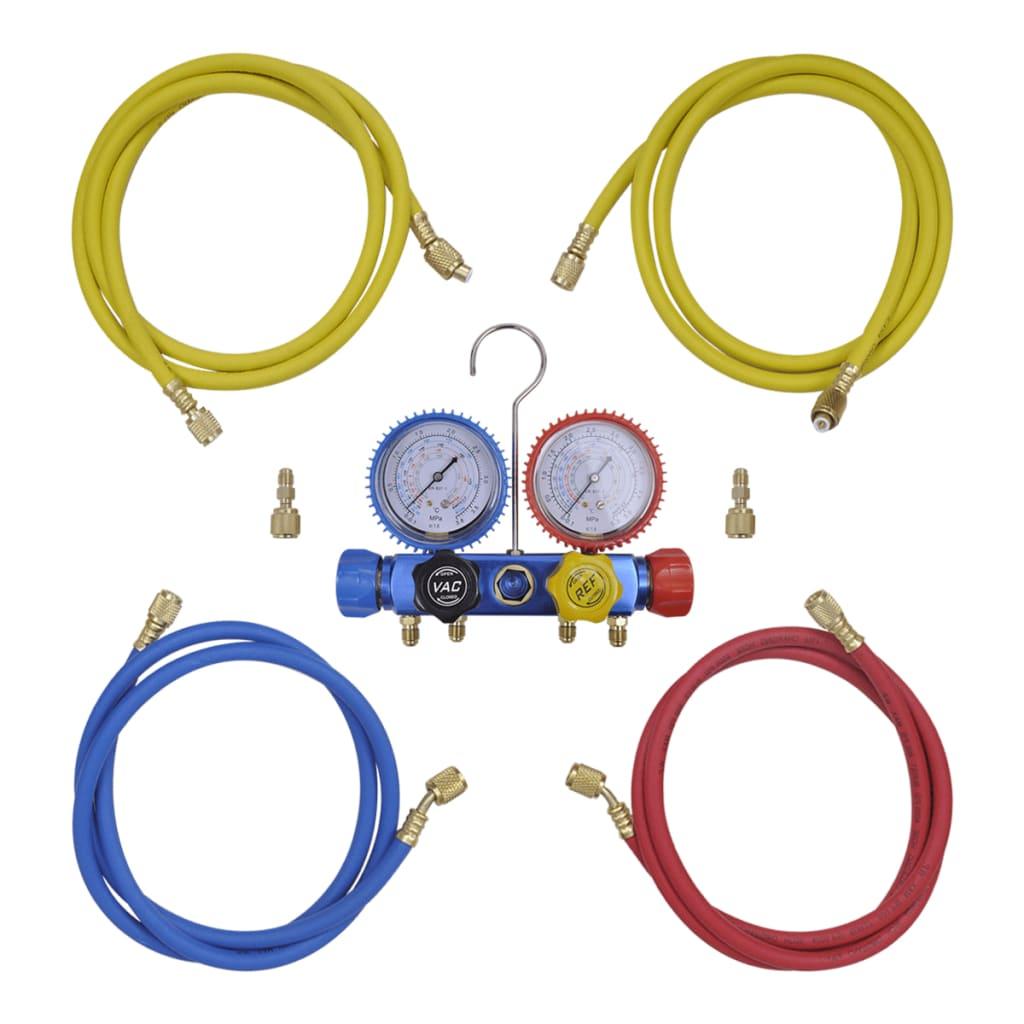 Grenrör mätarset för AC-enhet 4-vägs med förvaringsväska