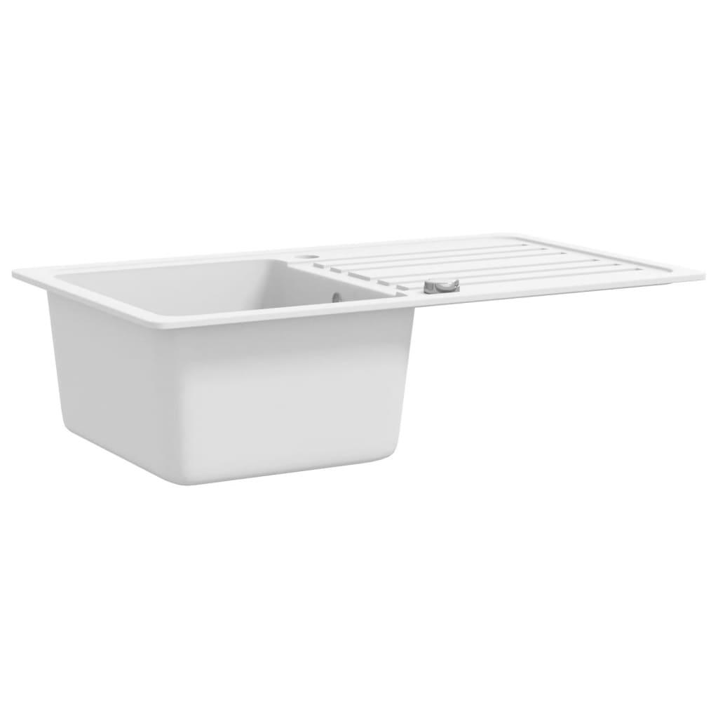 Granit kuchenspulbecken mit abtropfflache umkehrbar for Küchenspülbecken