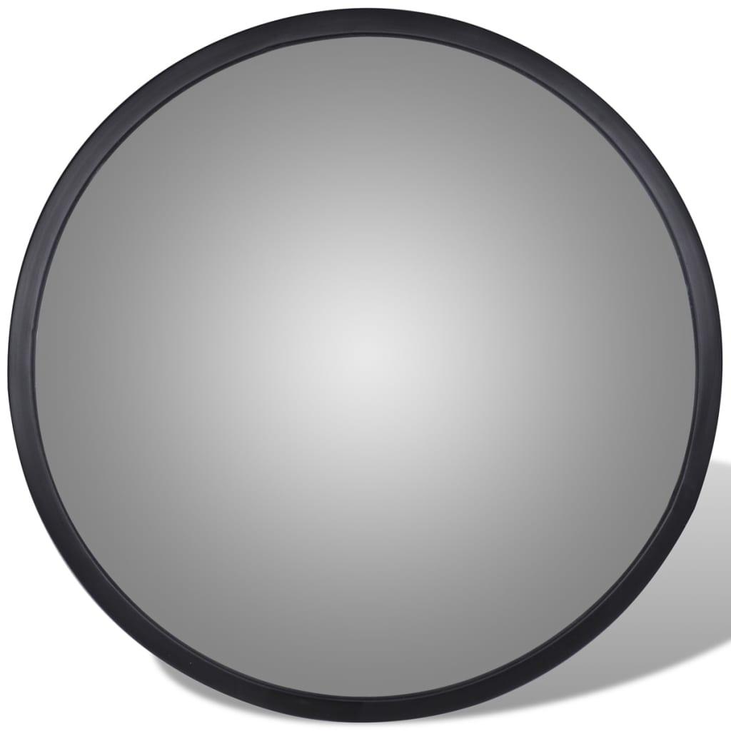 Acheter miroir convexe d 39 int rieur noir en acrylique 30 cm pas cher for Miroir convexe