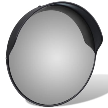 "Convex Traffic Mirror PC Plastic Black 12"" Outdoor[3/5]"