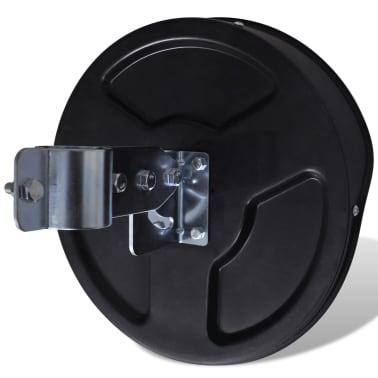 """Convex Traffic Mirror PC Plastic Black 12"""" Outdoor[4/5]"""