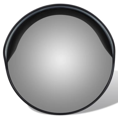 "Convex Traffic Mirror PC Plastic Black 12"" Outdoor[2/5]"