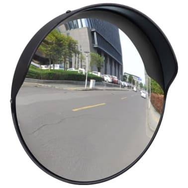 "Convex Traffic Mirror PC Plastic Black 12"" Outdoor[1/5]"