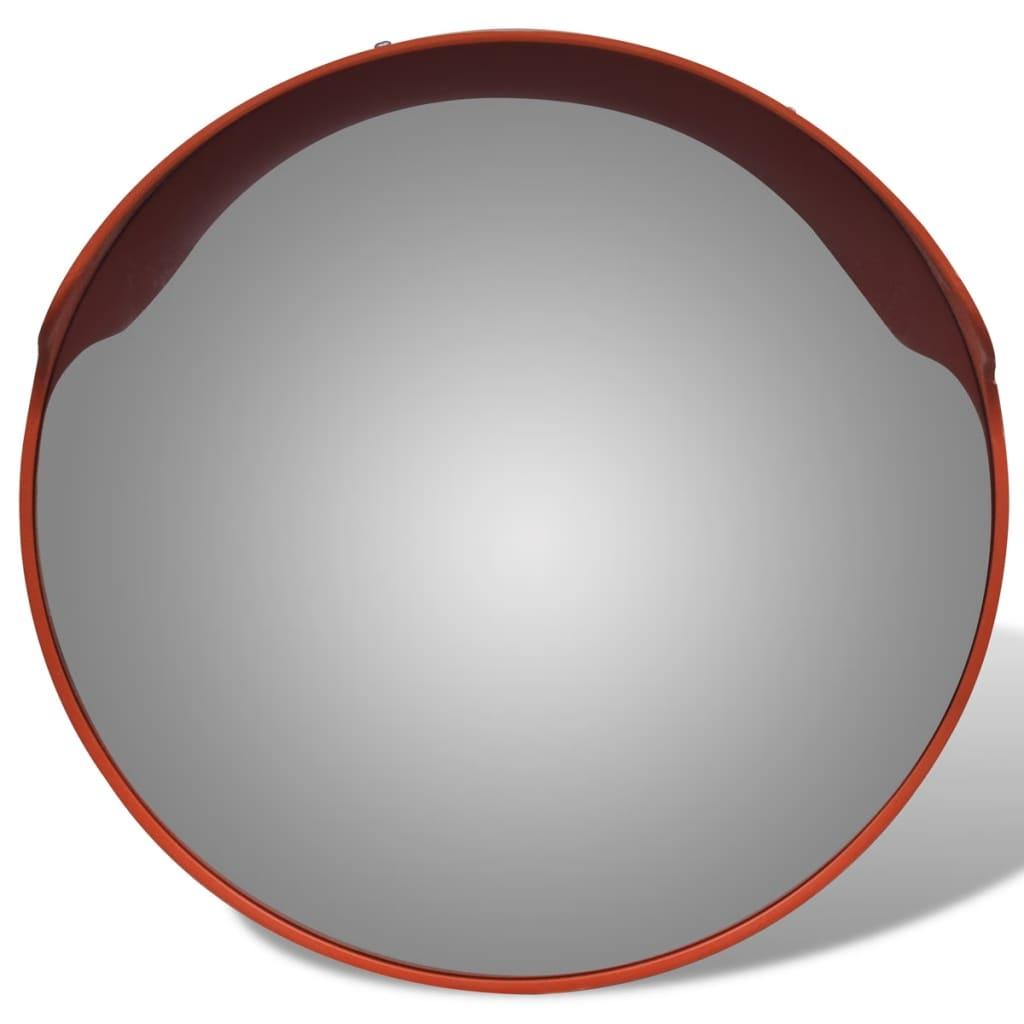 acheter miroir convexe d 39 ext rieur orange en plastique 45 cm pas cher. Black Bedroom Furniture Sets. Home Design Ideas