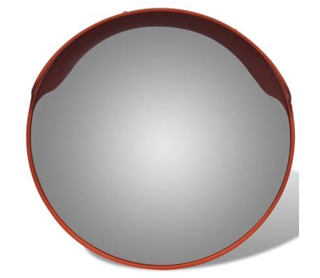 Miroir convexe d 39 ext rieur orange en plastique 45 cm for Miroir d exterieur