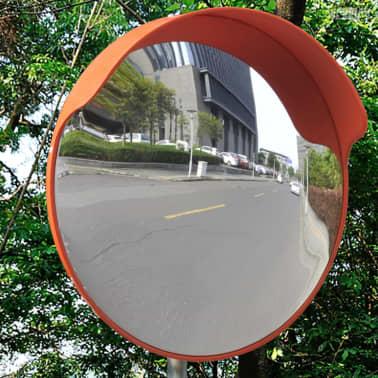 """Convex Traffic Mirror PC Plastic Orange 18"""" Outdoor[3/6]"""
