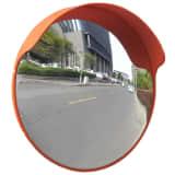 Convex trafikspejl i plastik, orange, 45 cm til udendørs brug