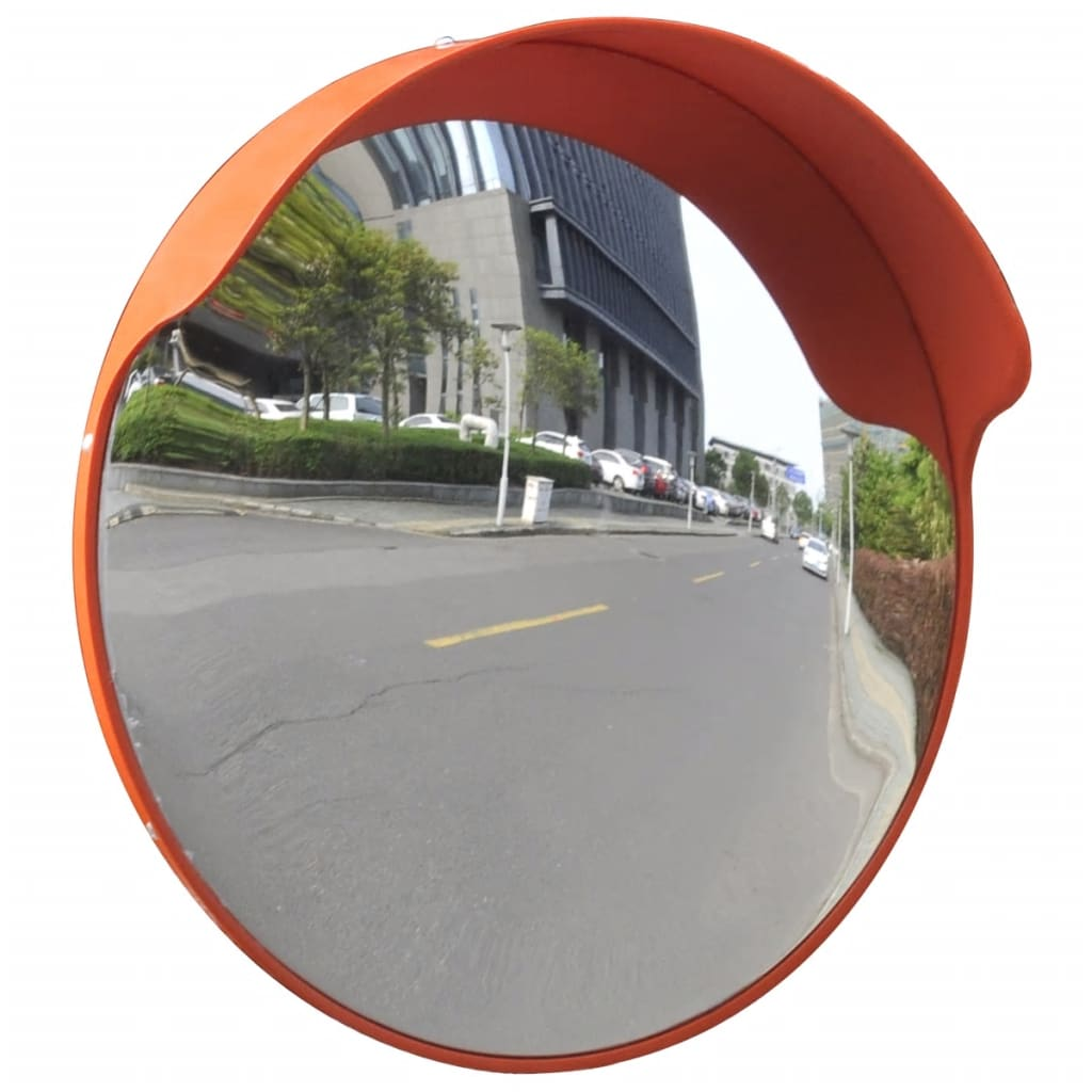 Convex traffic mirror pc plastic orange 18 outdoor for Ragreage mural exterieur